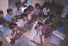 Evening village school in Valavanthi village